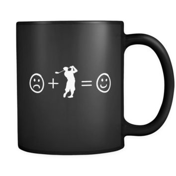 Mens Golf Makes Me Happy Coffee Cup