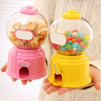Hot New Cute Sweets Mini Candy Machine Bubble Gumball Dispenser Coin Bank Kids Toy Warehouse Price Chrismas gift 5 Colors
