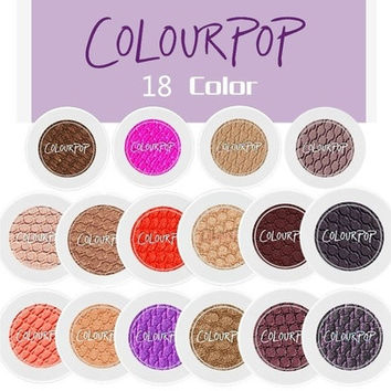 18 COLORS Makeup  Blush Single Colourpop Eyeshadow Powder Durable Waterproof High Pearlescent Cosmetics 18 COLORS [8833979404]