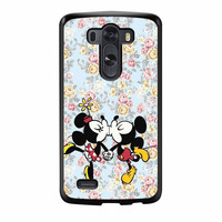 Mickey Kiss Minnie Disney Flowers LG G3 Case