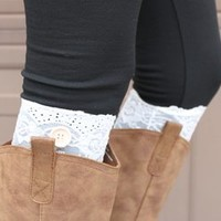 Lace & Button Boot Cuffs