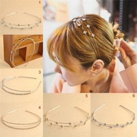 Crystal Hair Hoop Women Girl Lady Fashion Shine Metal Crystal Headband Head Piece Hair Band Jewelry