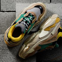 [ Free  Shipping ] Balenciaga Triple S Grey、Yellow、Green   Running Sneaker