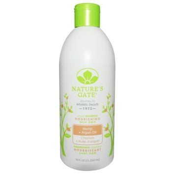 Nature's Gate: Nourishing Shampoo Hemp + Argan Oil, 18 Oz