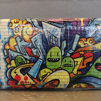 Duct Tape Wallet - Clutch - Purse - Graffiti