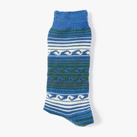 Waves Three Quarter Sock