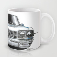 Car Sketch Mug by Michael Hewitt