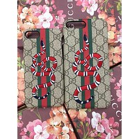 GUCCI Fashion Print Embroidery iPhone Phone Cover Case For iphone 6 6s 6plus 6s-plus 7 7plus