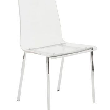 Crystal Clear Dining Chair ACRYLIC/CHROME