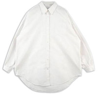 White Boyfriend Batwing Sleeve Shirt