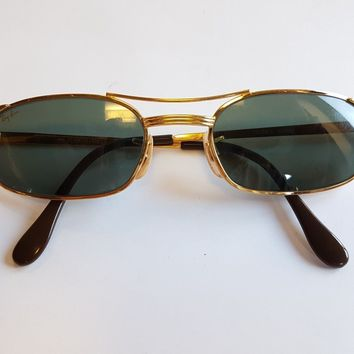 df00ab3bdb Ray Ban B L Vintage Sunglasses Signet Rectangular W1396 Made in USA Rare