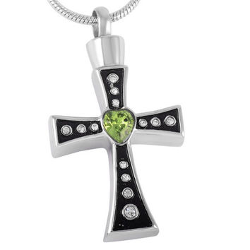 Cross Urn Necklace for Ashes - Cremation Memorial Keepsake Pendant