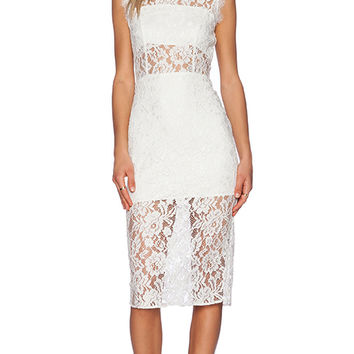 Alexis Leni Midi Dress in White