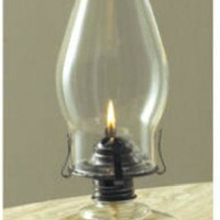 Lamplight® 110 Chamber Oil Lamp with Clear Glass Fingerhold Base, 12""