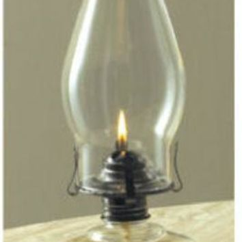 """Lamplight® 110 Chamber Oil Lamp with Clear Glass Fingerhold Base, 12"""""""