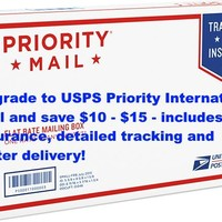 Shipping Upgrade to United States Postal Service Priority International Mail - Get Faster Delivery and is Fully Insured
