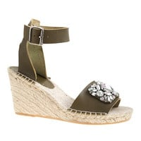 J.Crew Womens Corsica Jeweled Espadrille Wedges