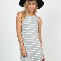 Striped Open Sides Dress