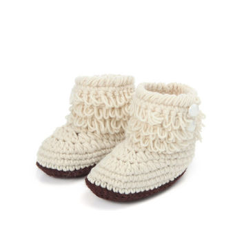 Fashion Fringe Baby Winter Boots New Born Girls Boys Crochet Booties Infant Crib Shoes Multicolor 10cm