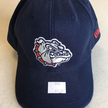 BRAND NEW GONZAGA BULLDOGS LOGO NAVY BLUE CURVED BRIM FITTED HAT