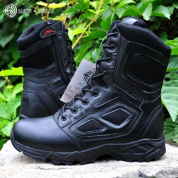 High Quality Brand Men Military Boots Special Forces Tactical Desert Combat Boats Outdoor Shoes Tactical Boots