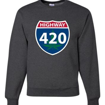Highway 420 Crewneck Sweatshirt