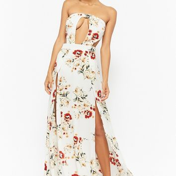 Floral Tube Maxi Dress