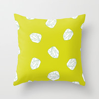 Gems and Stones Throw Pillow by Simi Design