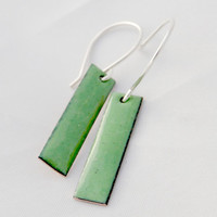 Cute Dangley Handmade Enameled Earrings