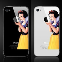 Snow white Iphone decal Iphone sticker Iphone 4 Iphone 4s decal sticker Iphone 5