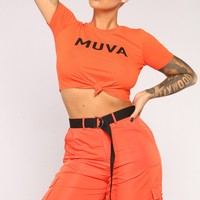 Muva-Hood Top - Orange