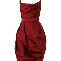 Corseted faille dress