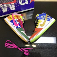 """Nike SB Dunk High """"What The Doernbecher"""" Sneakers"""