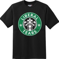 Funny Liberal Tears Political Humor  Trump President T Shirt  New Graphic Tee