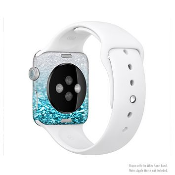 The Turquoise & Silver Glimmer Fade Full-Body Skin Kit for the Apple Watch