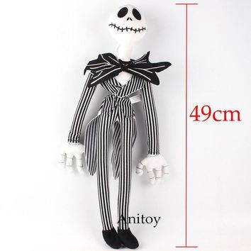 The Nightmare Before Christmas Jack Plush Toy Cute Skull Jake Stuffed Soft Dolls Great Gift