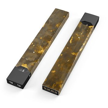 Skin Decal Kit for the Pax JUUL - Abstract Dark Gray and Golden Specks