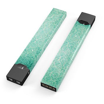 Skin Decal Kit for the Pax JUUL - Faded Teal and Green Pattern of Luxury