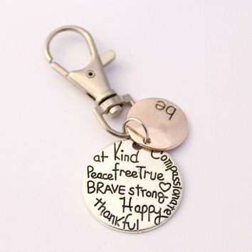 Be Kind, Compassionate, Grateful...Keyclip | be Keychain