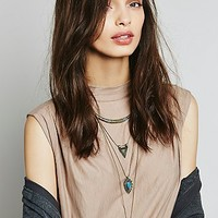 Free People Womens Dany Tiered Drop Collar