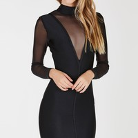 The Reveal Contrast Mini Dress