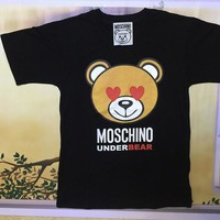 "Moschino Black ""Under Bear"" Fashion Women T Shirt"