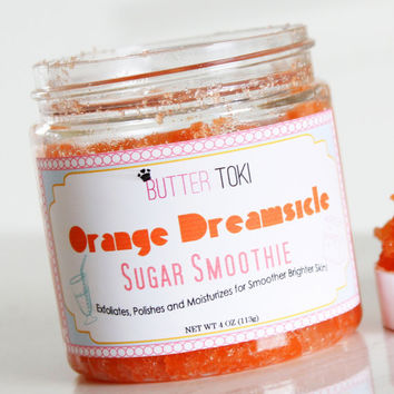 Orange Dreamsicle Scented Sugar Scrub 4oz! Handmade Sugar Scrub