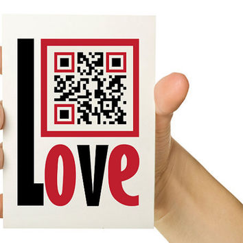 Valentine Card Customizable QR Code Valentine Card by TheWallaroo