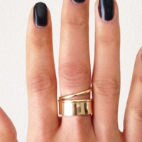 Coil Cuff Ring - Gold