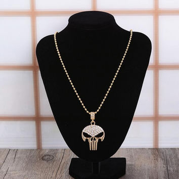 Retro Unisex Skull Necklace Gift 11