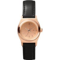 Nixon The Time Teller Leather Watch - Womens Jewelry