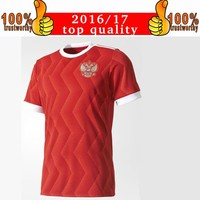 New Arriver 2017 Russia Soccer Jerseys 2017 18 Confederations Cup Home Football Shirt Thai Quality Kokorin Dzyuba Smolov Soccer Shirts