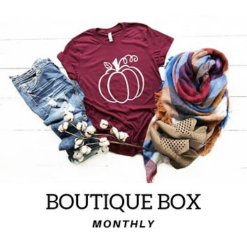 3 MONTH BOUTIQUE SUBSCRIPTION BOX (4 to 5 items Every month)