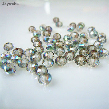 Hot Light Green Colors 3*4mm 145pcs Rondelle Austria faceted Crystal Glass Beads Loose Spacer Round Beads for Jewelry Making